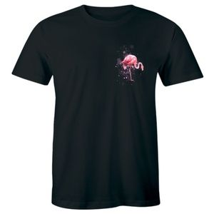 Pink Flamingo Bird Flamingos Pocket Men's T-shirt